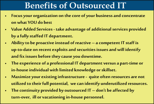 Outsourced IT Benefits